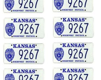 scale model Kansas Highway Patrol police car license tag plates