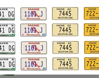 scale model car Maine license tag plates