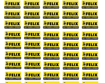 scale model car dealer Felix Auto Sales license tag plates