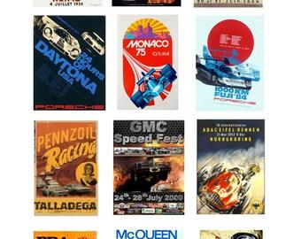 scale model automobile racing posters Porsche LeMans Daytona