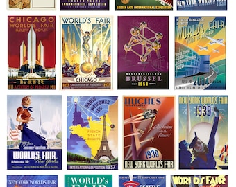 scale model car World's Fair posters