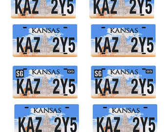 scale model car Supernatural Impala Kansas license tag plates