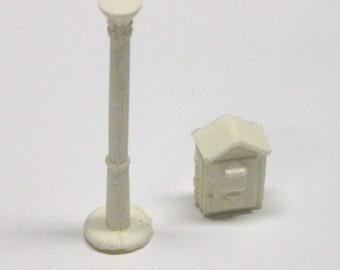 1:25 G scale model resin fire alarm call box