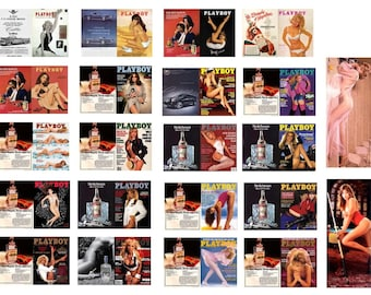 1:25 scale model Playboy magazine assortment