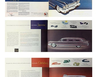 1:25 scale model 1959 Cadillac hearse sales brochure