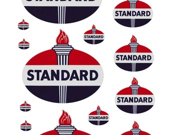 1:87 HO scale model Standard Oil gas station signs