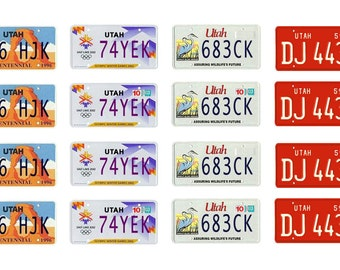 scale model Utah license tag plates