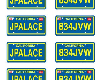scale model Against All Odds car license tag plates