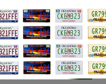 scale model car Oklahoma license tag plates