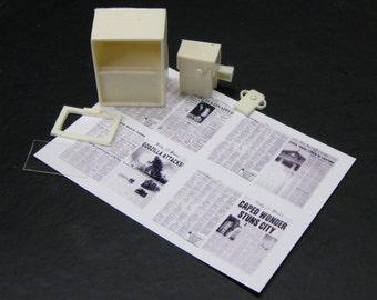 1:25 G scale model resin newspaper vending box