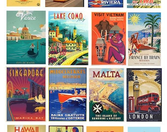 scale model vintage travel posters