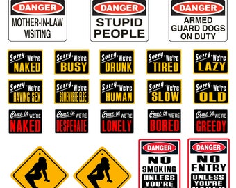 scale model automobile repair shop novelty warning signs