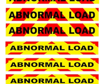 1:25 scale model miniature semi truck abnormal load placards