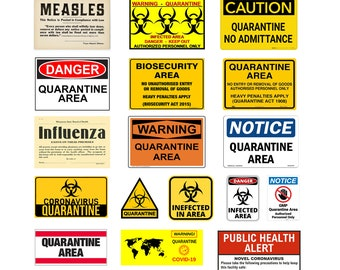scale quarantine signs