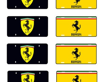 scale model Ferrari toy car license tag plates