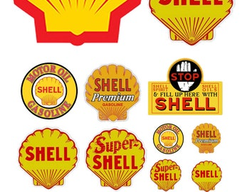 1:87 HO scale model Shell Oil gasoline station gas signs