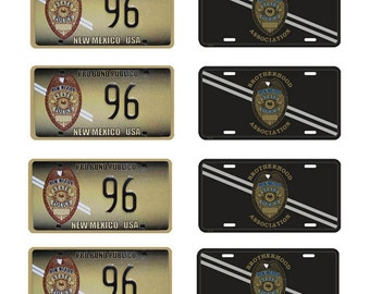 scale model New Mexico State Police car license tag plates 2012