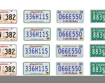 scale model car Louisiana license tag plates