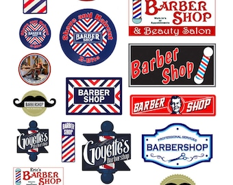 scale barber shop signs