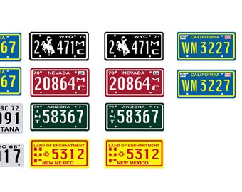 scale model Duel semi truck license tag plates