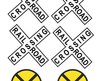 1:25 G scale model railroad crossing signs