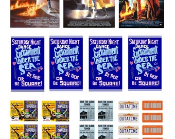 1/25 scale model movie Back To The Future movie Enchantment Under The Sea dance posters set
