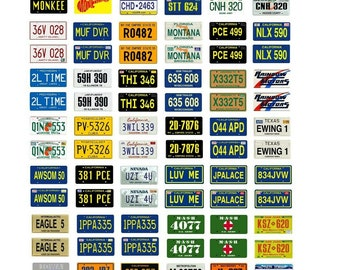 scale model car assorted science fiction TV movie license plates tags set 2
