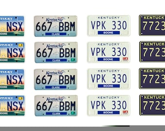 scale model car Kentucky license tag plates