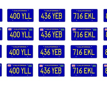 scale model car Charlie's Angels  license tag plates set