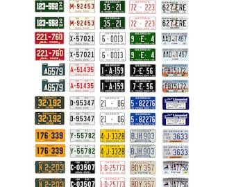 scale model car assorted USA license plates Georgia state tags  1/18 1/25 1/43 1/64