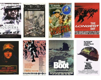1:25 G scale model war movie theater posters