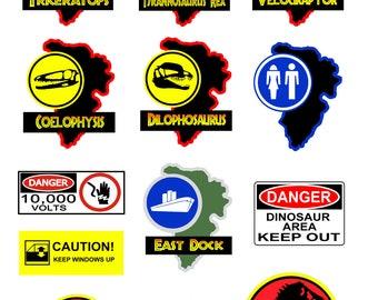 Jurassic Park signs