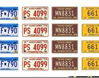 scale model car Minnesota license tag plates