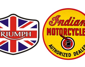 1:10 scale model motorcycle shop signs