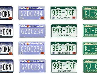 scale model car Colorado license tag plates