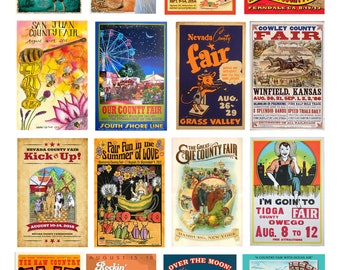 scale model car county fair posters