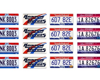 scale model car Supernatural Impala  license tag plates set