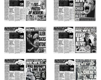 1:25 G scale model Weekly World News tabloid newspapers