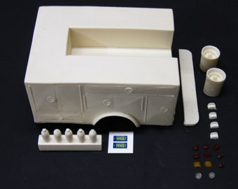 1:25 scale model resin Emergency! paramedic Squad 51 conversion kit