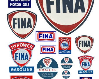 scale model Fina gasoline station gas signs