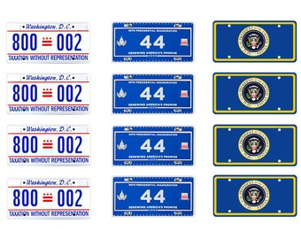 scale model Presidential Limousine license tag plates President Limo