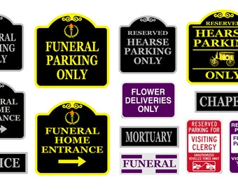 1:25 scale model funeral home signs