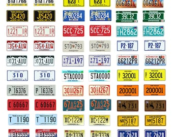 scale model semi truck apportioned miniature license plates tags 1/18 1/25 1/43 1/64