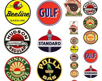 1:25 G scale model assorted vintage gasoline station gas signs set 2