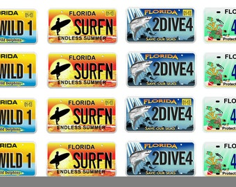 scale model car Florida speciality license tag plates