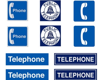 scale model telephone Signs