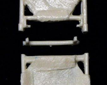 1:25 scale model resin ambulance folding gurney stretcher