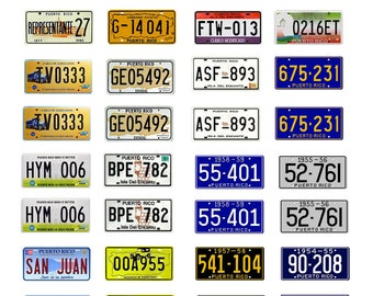 scale model car Puerto Rico license tag plates