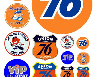 scale model Union 76 gas station signs