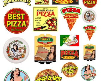 1:25 G scale model pizza restaurant Signs